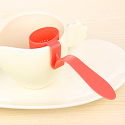 เครื่องกรองชาในแก้ว(สีแดง)