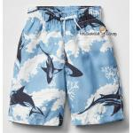 1028 Gap Kids Boys Shark Swim Trunks - Blue ขนาด 8, 14-16 ปี