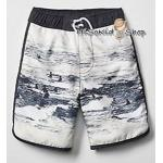1033 Gap Kids Boys Swim Trunks - White ขนาด 10 ปี