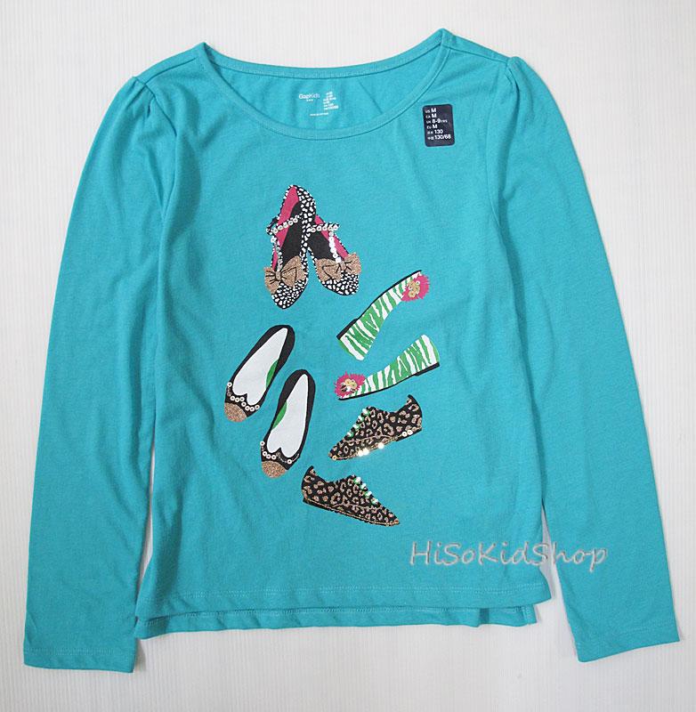 1036 Gap Kids Long Sleeve - Turquoise ขนาด M(8-9) ปี