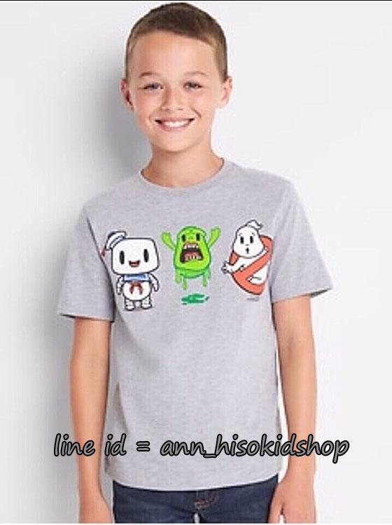 1969 Gap Kids Ghostbuster T-Shirt - Light Heather Grey ขนาด 14-16,18 ปี (ส่งฟรี ลทบ.)