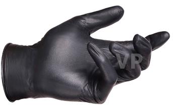 ถุงมือไนไตร (์Nitrile Gloves) สีดำ ลังละ 500 คู่ กล่องละ 240 บาท