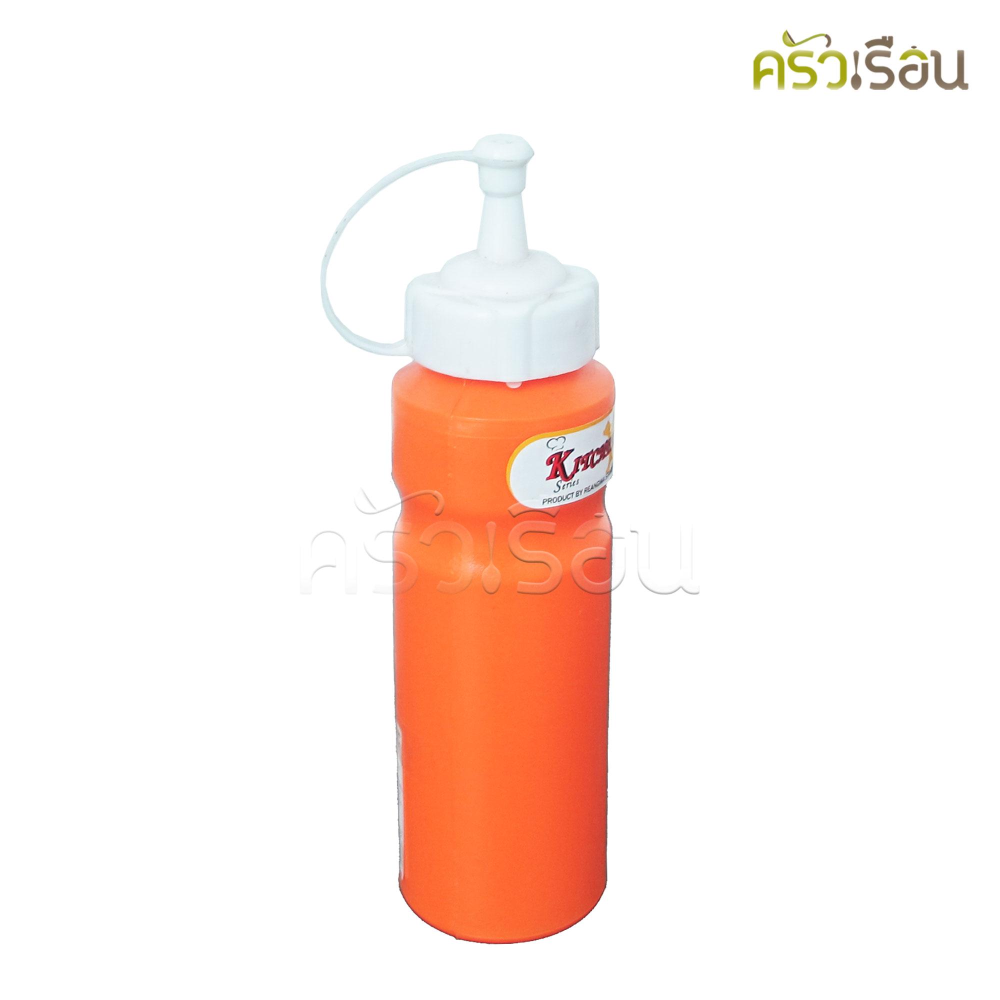 Reangwa Standard - ขวดซอสพลาสติก ส้ม 240 ml. 9040