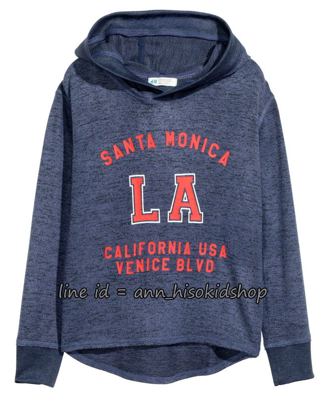 1711 H&M Hooded Top with a Print Motif ขนาด 8-10,12-14 ปี
