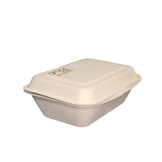 Gracz เกรซ - กล่องอาหารชานอ้อย - B004 - ขนาด 6.5 นิ้ว / 450 มล. แพ็ค 50 ใบ