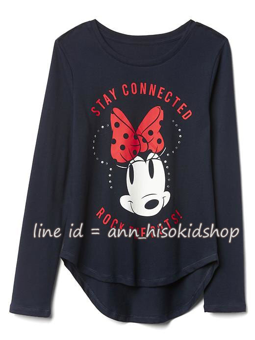 1891 Gap Kids Disney Long Sleeve - Navy ขนาด 12 ปี