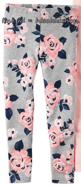 1804 Carter Floral legging - Grey ขนาด 5 ปี