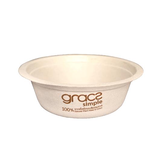 Gracz เกรซ - ชามกลมไบโอชานอ้อย - L001 - ขนาด 500 มล. แพ็ค 50 ใบ