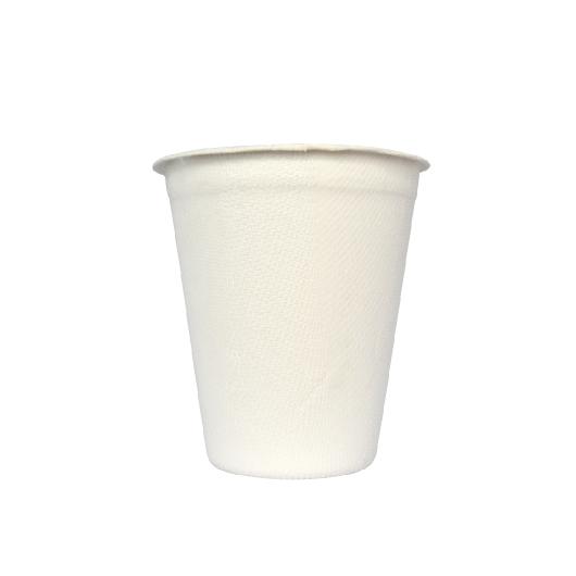Gracz เกรซ - แก้วน้ำไบโอชานอ้อย Classic สีขาว - L051 - ขนาด 260 มล. แพ็ค 50 ใบ