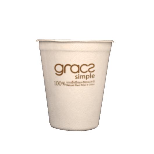 Gracz เกรซ - แก้วน้ำไบโอชานอ้อย - L051 - ขนาด 260 มล.