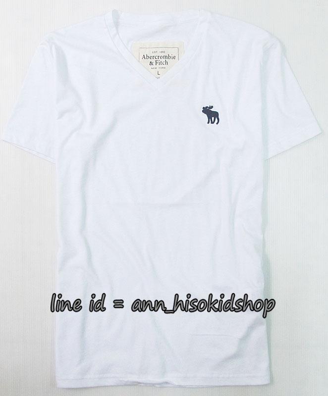 1708 Abercrombie&FitchT-Shirt - White ขนาด L, XL
