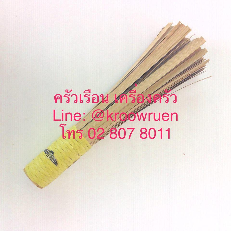 M-WELL แปรงล้างกระทะไม้ไผ่ 28 ซม. KC886