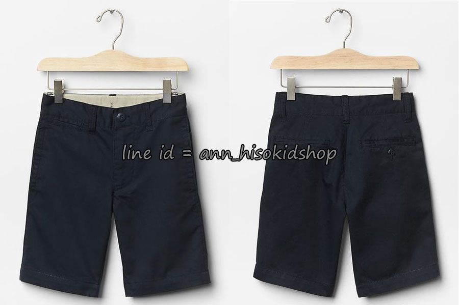 1998 GapShield Flat Front Shorts - Navy Blue ขนาด 14(Husky) ปี