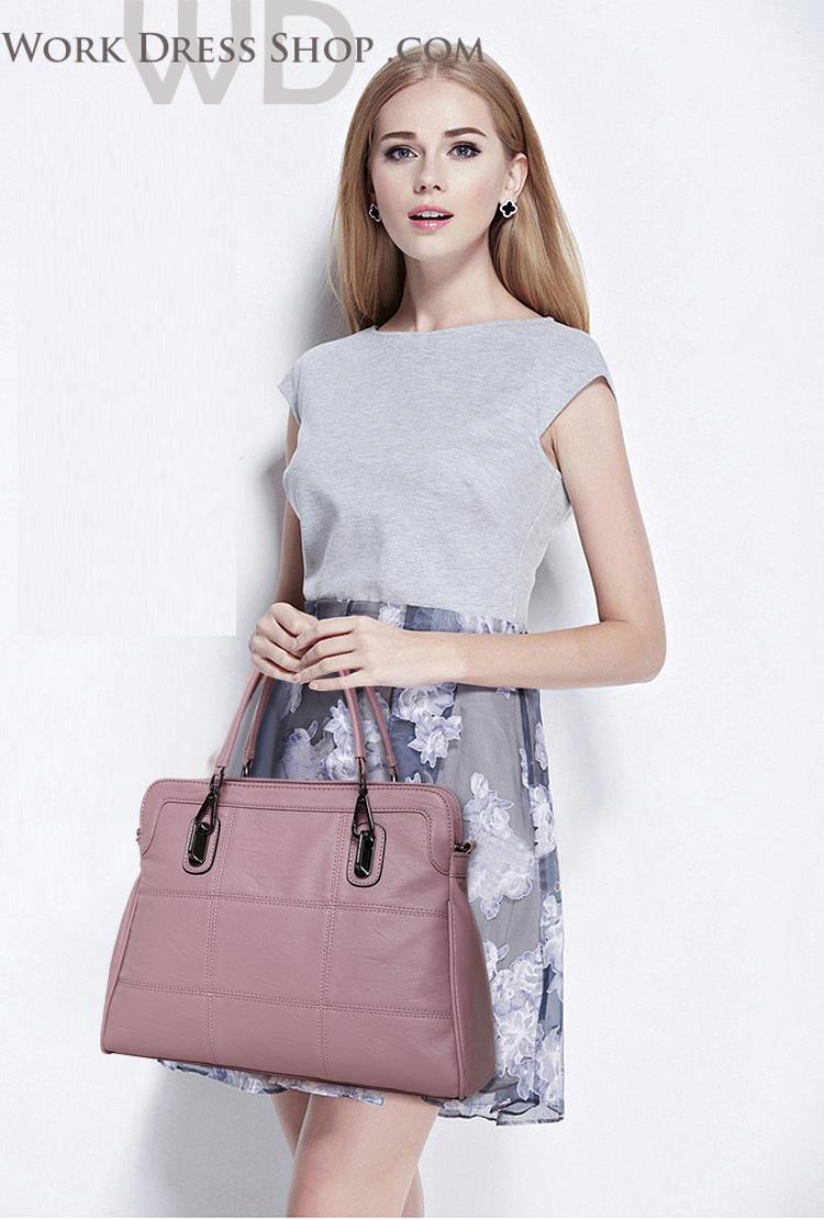 Pre-order กระเป๋าหนังแท้ สีชมพู งานเนียบ เนื้อนิ่ม