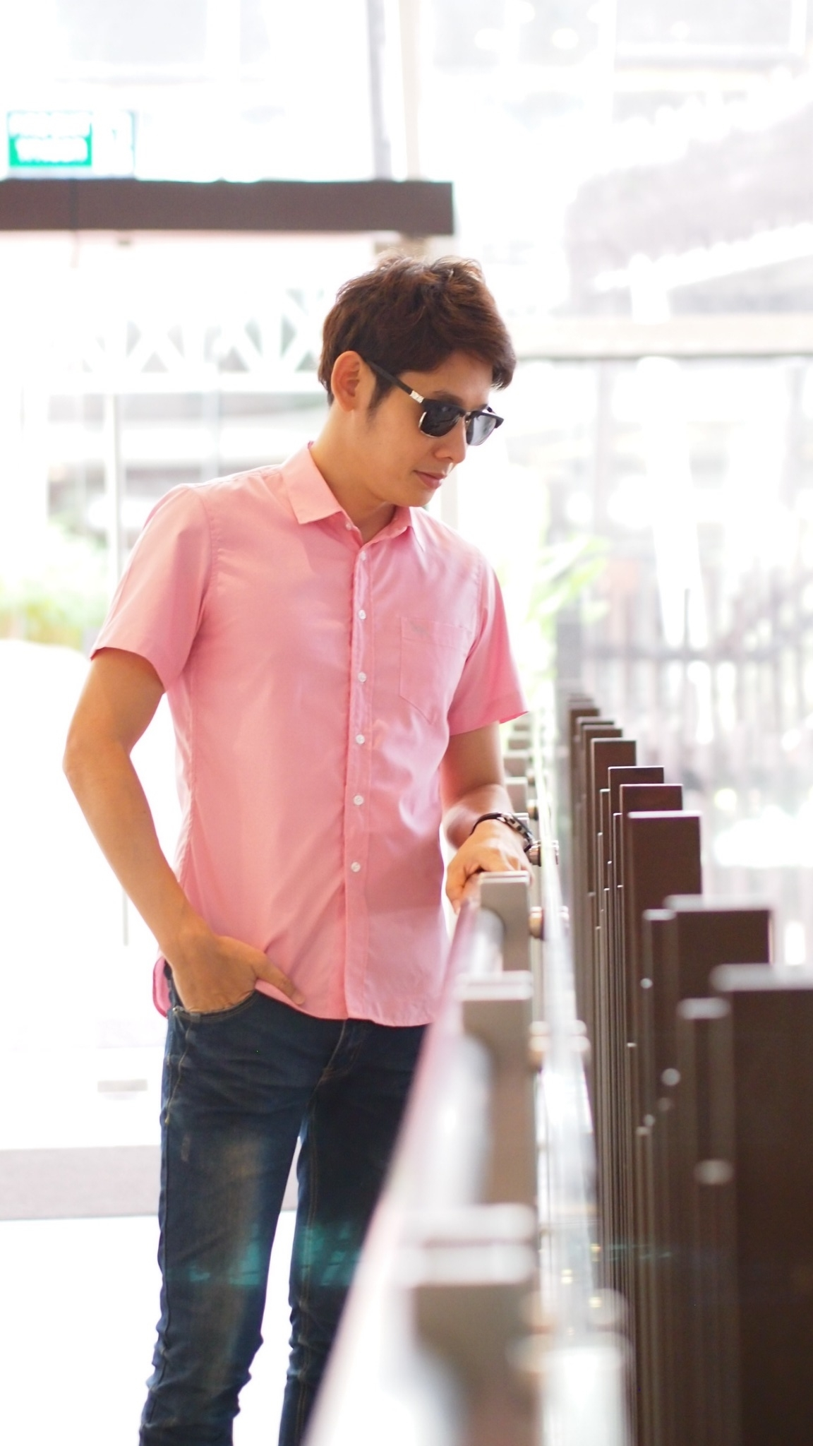 เสื้อเชิ้ตแขนสั้น ชาย NANAPA Shirts S-021