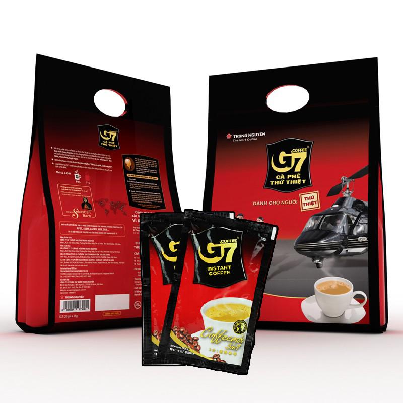 กาแฟเวียดนาม G7 ca phe thu thiet 3 in 1 พร้อมชง 50 ซอง