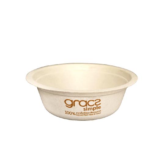 Gracz เกรซ - ชามกลมไบโอชานอ้อย - L026 - ขนาด 350 มล. แพ็ค 50 ใบ