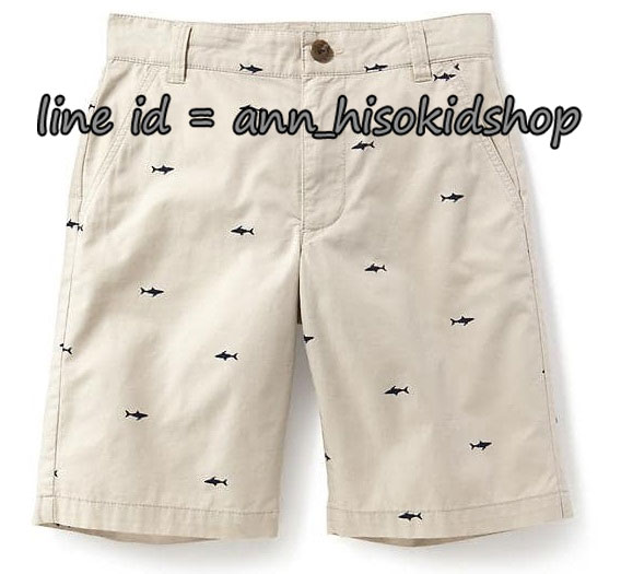 1843 Old Navy Flat-Front Twill Shorts for Boys = Sharks ขนาด 10,12 ปี