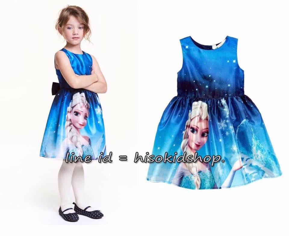 1772 H&M Frozen Dress - Blue ขนาด 8-10,10-12,12-14 ปี