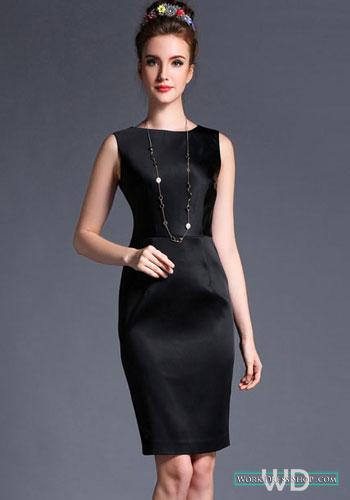 Preorder ชุดทำงาน สีดำ ผ้าซาติน แบบเรียบหรู ออกงานได้ มีไซส์ใหญ่ S - 3XL