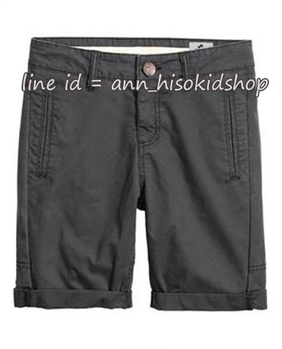 2022 H&M Chino Shorts - Dark Grey ขนาด 12-13 ปี