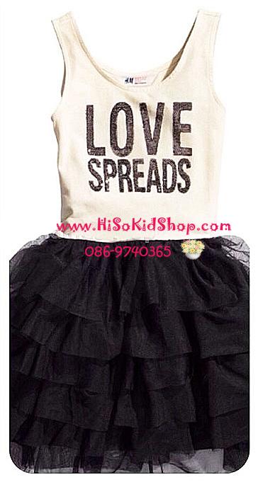 1087 H&M Tulle Dress - Black ขนาด 4-6 ปี