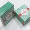 กล่องสแน็ค กล่องอาหารว่าง ลายเชอรี่ กว้าง12.7 x ยาว12.7 x สูง 6.5 ซม.