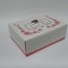 กล่องสแน็ค 15.5x11.5x6.0 ซม. (100 ใบ/แพ็ค) กล่องอาหารว่าง ลาย Snack box ชมพู