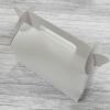 กล่องหูหิ้ว กล่องเค้กโรล กว้าง 20.5 x ยาว 10.0 x สูง 9.0 ซม.กล่องซาลาเปา กล่องคัพเค้ก กล่องเค้ก กล่องคุ๊กกี้ กล่องขนม สีขาว