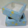 กล่องบราวนี่ กล่องชิฟฟ่อน กล่องช๊อกโกแลต กล่องพาย กล่องขนมเปี๊ยะ ลายฟ้าเหลือง กว้าง15.0 x ยาว 15.0 x สูง 5.0 ซม.