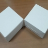 กล่องสแน็ค กล่องอาหารว่าง ลายสีขาว กว้าง12.7 x ยาว12.7 x สูง 6.5 ซม.
