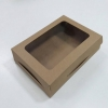 กล่องขนม กล่องบราวนี่ 20x14.5x4 ซม.กล่องทาร์ตไข่ คราฟท์น้ำตาล (20 ใบต่อแพ็ค)
