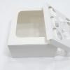 กล่องคัพเค้ก กล่องคัพเค้ก 8 ชิ้น (พร้อมฐานคัพเค้ก) สีขาว 20.5 x ยาว 20.5 x สูง 10.0 ซม.
