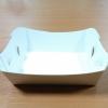 ถาดใส่ขนม/ถาดขนมปัง/ถาดชิม/ถาดอาหารฟู้ดเกรด คราฟท์ กว้าง 8.0 x ยาว 7.0 x สูง 3.5 ซม.