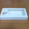 กล่องบราวนี่ 3-4 ชิ้น กล่องทรงแบน กล่องช็อคโกแลต กล่องขนมฟู้ดเกรด สีขาว กว้าง 10.0 x ยาว 22.0 x สูง 3.0 ซม.