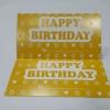ป้ายอวยพร Happy Birthday ลายเหลืองขาว ป้ายของวัญ ป้ายห้อยสินค้า