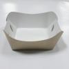 ถาดใส่ขนม/ถาดขนมปัง/ถาดชิม/ถาดกระดาษคราฟท์ ฟู้ดเกรด กว้าง 7.9 x ยาว 8.8 x สูง 3.6 ซม.