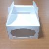 กล่องหูหิ้ว กล่องเค้ก 1 ปอนด์ กล่องเค้กทรงสูง กล่องบราวนี่ กล่องคุ๊กกี้ กล่องชิฟฟ่อน กล่องเค้ก กล่องขนม สีขาว กว้าง 20.5 x ยาว 20.5 x สูง 12.0 ซม.