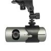 กล้องติดรถยนต์ R300 HD DVR 2 เลนส์+GPS ราคาถูก กล้องคมชัดมาก มาพร้อม GPS และกล้องมองหน้าหลัง 2 เลนส์ในตัว สินค้าแท้ 100%
