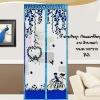 ม่านกันยุงการ์ตูนลายจักยาน สีฟ้า ขนาด100*210
