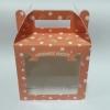 กล่องคุ๊กกี้ กล่องขนม มีหูหิ้ว กว้าง 15 x ยาว 10 x สูง 14 ซม.