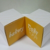 กล่องเค้กโรล / กล่องเค้ก 1 ชิ้น / กล่องคัพเค้ก 1 ชิ้น / กล่องขนม เหลืองจุด กว้าง 9.0 x ยาว 9.0 x สูง 9.0 ซม.