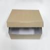 กล่องไม่มีหน้าต่าง (ฝาทึบ) 20.0x16.0x8.2ซม.กล่องเค้ก กล่องคัพเค้ก กล่องบราวนี่ กล่องชิฟฟ่อน กล่องช้อคโกแล็ต กล่องคุ๊กกี้ กล่องขนม สีคราฟท์หน้าขาวหลังน้ำตาล
