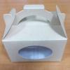 กล่องคุ๊กกี้ / กล่องขนม / กล่องเค้ก / กล่องคัพเค้ก กล่องช้อกโกแล็ต แบบมีหูหิ้ว ลายคราฟท์