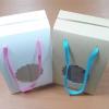 กล่องคุ๊กกี้ กล่องขนม กล่องคัพเค้ก กล่องฟู้ดเกรด สีขาว เชือกหูหิ้ว กว้าง 15.2 x ลึก 10.2 x สูง 22.5 ซม.