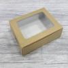 กล่องขนม กล่องบราวนี่ 15.8 x 12.5 x 4 ซม.กล่องทาร์ตไข่ คราฟท์หน้าขาวหลังน้ำตาล (สีน้ำตาลอ่อน) จำนวน20 ใบต่อแพ็ค