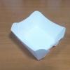 ถาดใส่ขนม ถาดขนมปัง ถาดชิม ถาดอาหาร สีขาว 12x12x4.2 ซม.