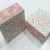 กล่องสแน็ค กล่องอาหารว่าง ลายผีเสื้อและดอกไม้ กว้าง12.7 x ยาว12.7 x สูง 6.5 ซม.