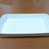 ถาดใส่ขนม/ถาดขนมปัง/ถาดชิม/ถาดอาหารฟู้ดเกรด สีขาว กว้าง 10.0 x ยาว 15.0 x สูง 2.3 ซม.