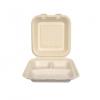 Gracz เกรซ - กล่องอาหารชานอ้อย 3 ช่อง - B030 - ขนาด 7 นิ้ว / 450 มล. แพ็ค 50 ใบ